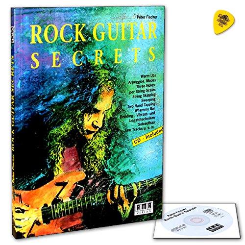 Rock Guitar Secrets (+CD) inkl. Plektrum - Spieltechniken, Solo- und Improvisationskonzepte, übungen, Licks und Jam Tracks zu Warm ups, Bending und Vibratotechniken, Blues-Skalen u.v.a.m. (Taschenbuch) von Peter Fischer (Noten/Sheetmusic)