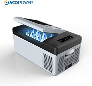 ACOPOWER, 4°F True Freezing, 12V/24V DC and 110V AC (16 Quarts) P15 Portable Compressor Fridge Freezer fit for car and Home