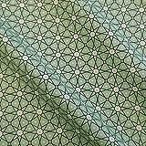 Stoff Baumwollstoff Meterware mint hellgrün Mosaik weiß