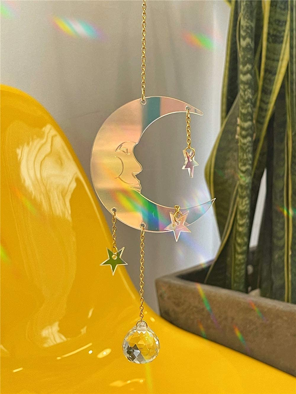 Special Phoenix Mall price for a limited time Hand Man Moon Star Color Crystal Catcher Change Sun