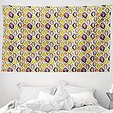 ABAKUHAUS Kakao Wandteppich & Tagesdecke, Aquarell-Stil Tropic Lebensmittel, aus Weiches Mikrofaser Stoff Wand Dekoration Für Schlafzimmer, 230 x 140 cm, Mehrfarbig
