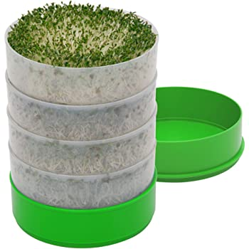 "Kitchen Crop VKP1200 Deluxe Kitchen Seed Sprouter, | 6"" Diameter Trays, 1 Oz Alfalfa Included"