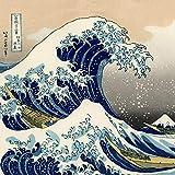 Hecho a mano de cera de salvado de arroz vegano diseño The Great Wave Off Kanagawa Pan Wrap 50 cm x 50 cm