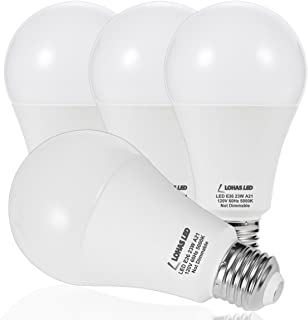LOHAS A21 LED Light Bulb, 150W-200W Incandescent Bulb Equivalent, 23W LED Bulb, 2500 Lumens, Daylight White 5000K, E26 Medium Screw Base, LED Lamp, Home Decor Lights, Not-Dimmable, (Pack of 4)