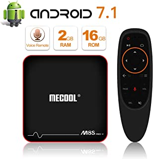 Newest Model MECOOL M8S Pro Android 7.1.2 TV Box with Innovative Voice Remote, Best Android UI, 2GB RAM 16GB ROM and HD 4K Internet Media Players