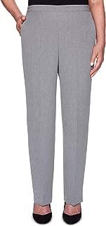 Alfred Dunner Women's Petite Full Back Elastic Short Length Pant