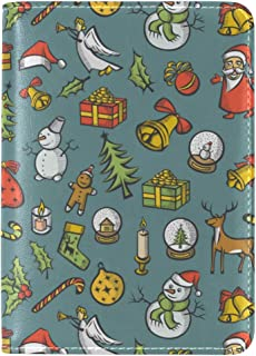 Elf Christmas Decorations Snowman Leather Passport Wallet for Passport Holder for Safe Trip durable Easy to Carry
