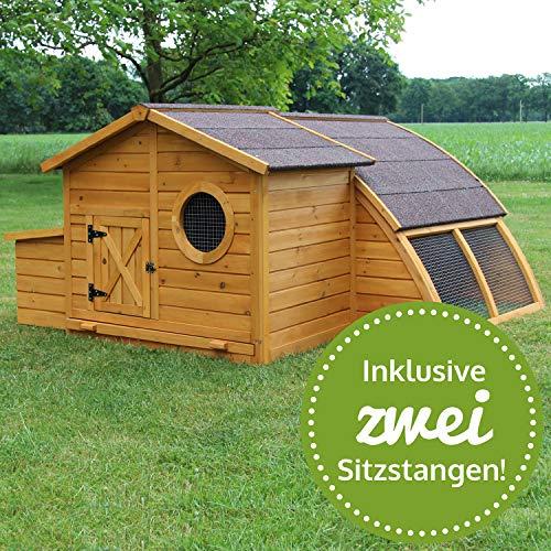 zooprinz Hühnerstall 146 Geflügelhaus - SCHWEDEN - Stall für Außenbereich (für Kleintiere: Hühner, Geflügel, Vögel, Enten usw.)