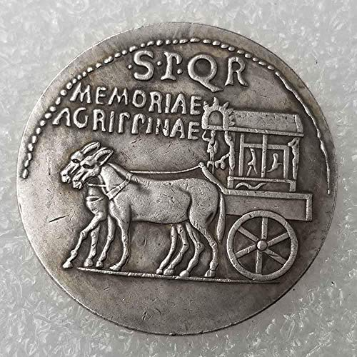 YunBest, Vecchia moneta romana, moneta commemorativa portafortuna, con re filosofo