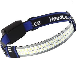 Anazalea 40 Led Headlamp, Wide Angle 370 Lumen Led Strip Headlights with Elastic Headband and Smart Touch Adjustable Brightness for Outdoor Camping, Biking, Running, Fishing
