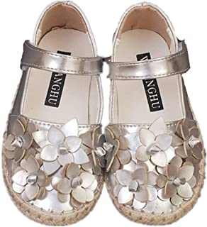 Dolwins Girls First Walkers Round Toe Princess Dress Mary Jane Flat Shoes