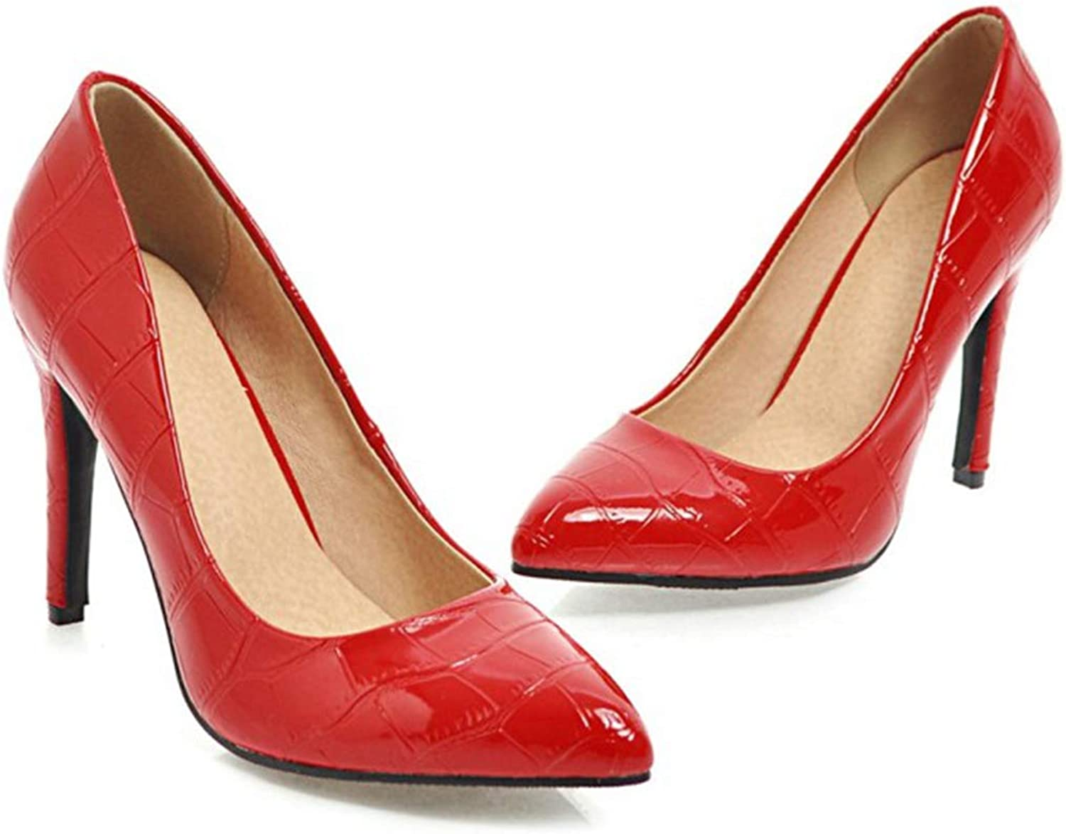 Owen Moll Women Pumps, Classic Plaid Pointed Toe Stiletto Thin High Heels Office Party shoes