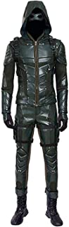 Mens PU Leather Battle Suit Halloween Cosplay Costume Full Set