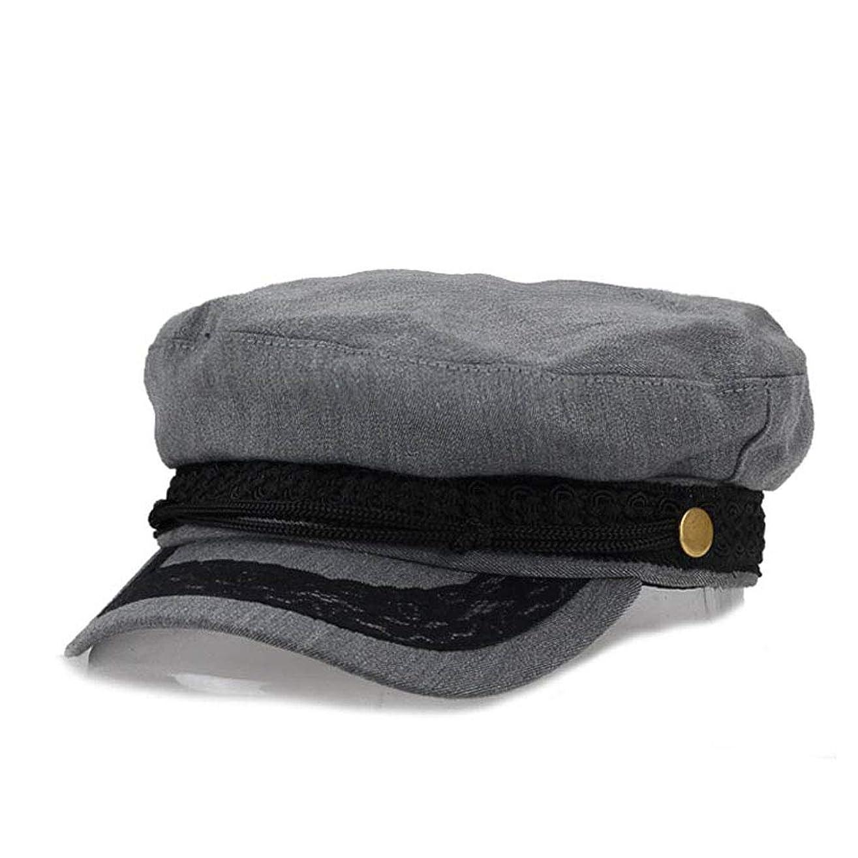 明日突然の項目LULIJP レディース秋冬ウールネイビーベレー帽キャップレディースレース八角形の芽帽子ファッションフラットキャップ