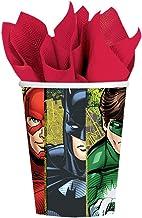Amscan 581585 Justice League Paper Cups 9oz, 8pcs