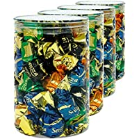 Luxury & Grace Pack 4 Botes de Polietileno Alimentario, 1,1 L (15x10cm). Tarros con Tapa Transparente de Polietileno. Reciclables. 100% Libres de BPA.