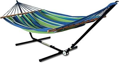 Hammaka 40922-KP Adjust to Fit Woven Spreader Bar Combo-Green Hammock Stand