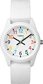 Timex Kids Analog 30mm Fabric Strap |White| Rainbow Youth...