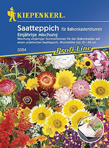 Kiepenkerl Saatteppich für Balkonkastenblumen   Sommerblumen-Mischung   1 Packung Samen