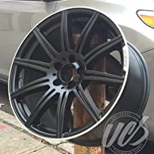 NEW 18 inch x 8.5/9.5 E63 AMG Style Staggered Wheels Rims 5 lug Matte Black Machined Face compatible with MERCEDES BENZ E63 Set of 4