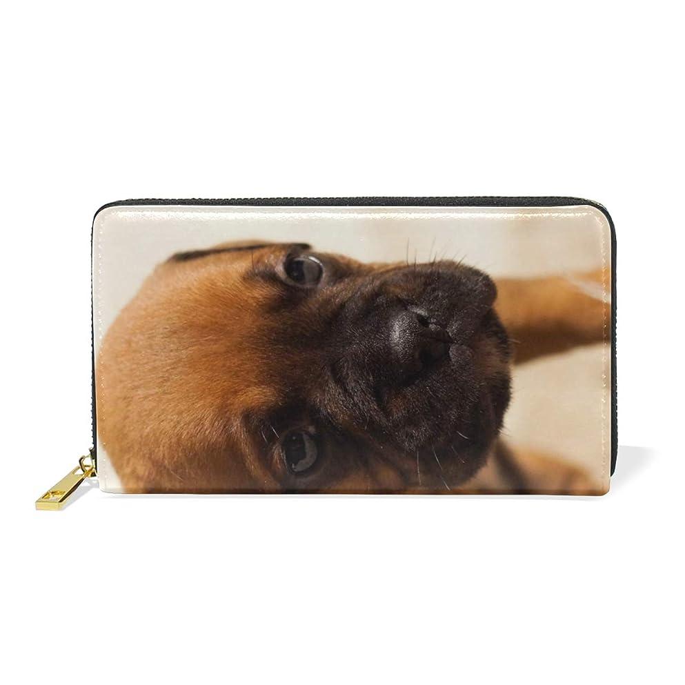 ダニ見込み土砂降りAyuStyle 長財布 財布 レディース メンズ 犬 イヌ 写真 大容量 個性的 ラウンドファスナー ロング ウォレット PUレザー お札入れ 小銭入れ カード入れ