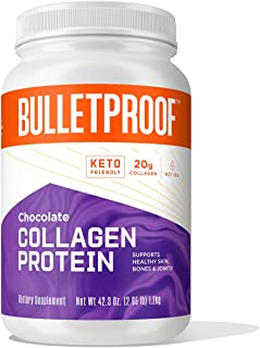 Bulletproof Collagen Protein Powder with XCT MCT Oil, Chocolate,19g Protein, 42.3 Oz, Collagen Peptides and Amino Acids fo...