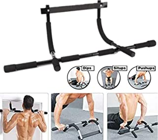 vikitim Pull-up Bar Trainer Iron Gym Pull Up Sit Up Door Bar Multi-Grip Pull Up Bar Doorway Chin-Up Trainer Fitness Pole