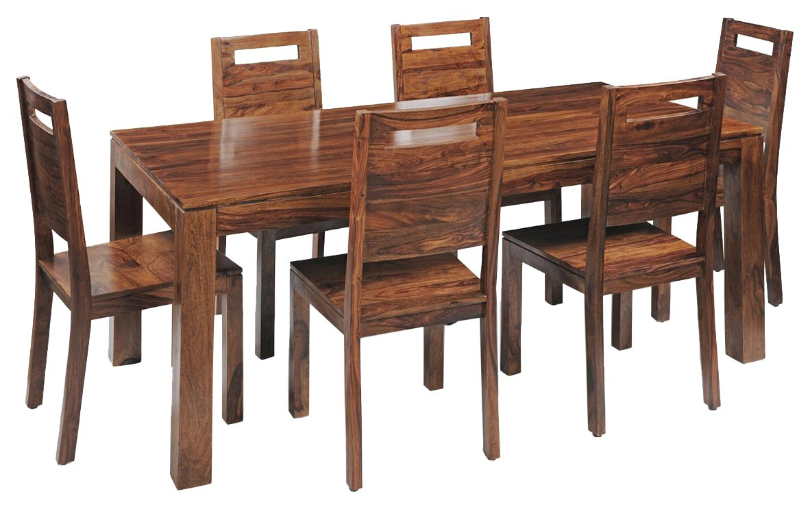 Royaloak Saphire Six Seater Dining Table Set Natural  Amazon.in ...