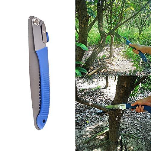 XiaoOu Élagage Manuel scies à métaux Jardin Pliant Coupe scie élagage Jardin ménage Anti-Saut 26 cm Outil de sciage à la Main en Acier