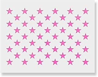 "50 Stars Stencil Template - Reusable Stencil of American Flag 50 Stars in Official US Proportions (Actual Dimensions 5.3"" Width x 3.7"" Height)"