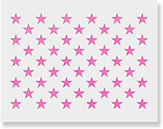 50 Stars Stencil Template - Reusable Stencil of American Flag 50 Stars in Official US Proportions (Actual Dimensions 5.3
