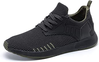 YIRUIYA Men's Knit Running Shoes Slip on Sneakers Breathable Tennis Athletic Walking..