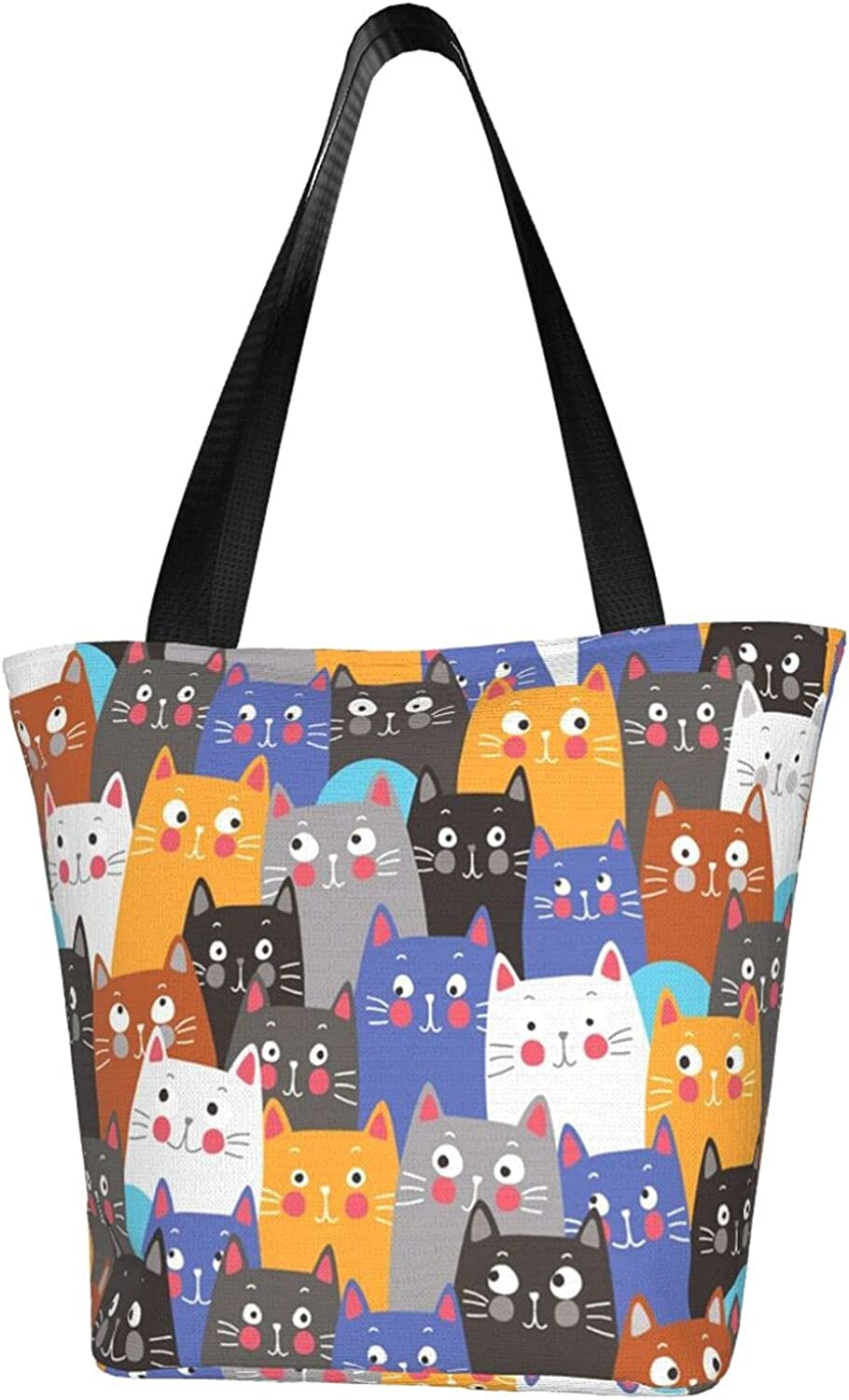 Colorful Ranking TOP12 Cute Cats Women'S Tote Storage Shoulder Bagportable 35% OFF Bag