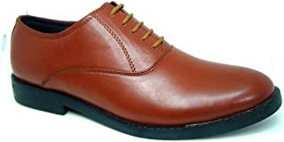 ASM Police Tan Derby Dress Uniform Shoes with TPR (Thermo Plastic Rubber) Sole, Comfortable Foot pad for Optimum Comfort for Men. Article 106PDS UK/India 5 to 15