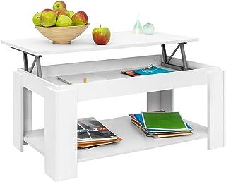 COMIFORT Mesa de Centro Elevable - Mueble con Revistero Gran Almacenaje Estilo Moderno Muy Resistente Fabricada en Eur...