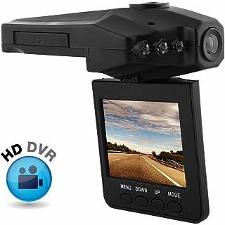 "REDLEMON Cámara para Automóvil tipo Dashcam con Pantalla LCD de 2.5"" HD, Visión Nocturna, Detector de Movimiento, Micrófono, Fotografía, Video, Soporte para Parabrisas, Lente Amplio de 120°, Ranura MicroSD"