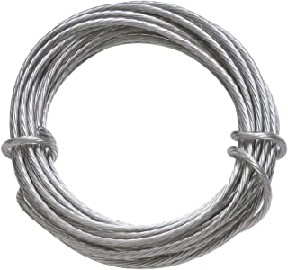 HangZ 80050 Coated Stainless Steel Gallery Wire for Hanging Pictures, 50lb, 9-Foot