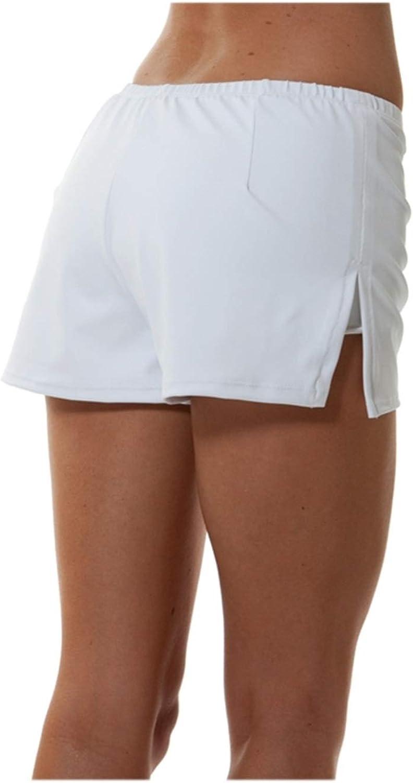 bluee Sky Swimwear Performance Tennis Short in White (Short Only) White