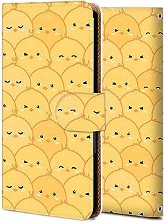 Huawei nova lite 2 ケース 手帳型 704HW カバー スマホケース おしゃれ かわいい 耐衝撃 花柄 人気 純正 全機種対応 WX001-ひよこの群れ かわいい アニメ アニマル 4324440