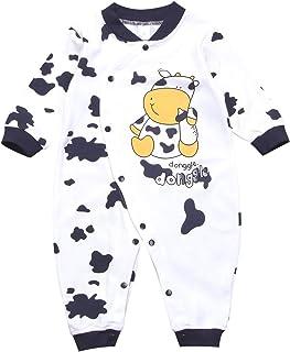 con Mucche in Cotone Bambina Pagliaccetto per Neonato Ragazzo