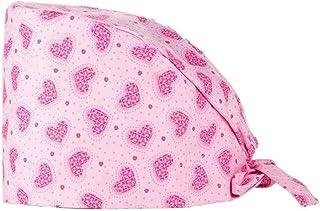Cappelli in cotone con stampa Scrub Berretto turbante Bouffant Copricapi regolabile per estetista Operatore di laboratorio...