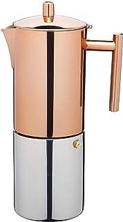 KitchenCraft Le Xpress espressomaskin, rostfritt stål, 10 koppar, 9 x 12 x 16 cm