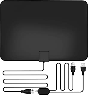 2019 Amplified HD Digital TV Antenna, 80+ Miles, All Older TV's for Indoor TV Digital HD Antenna with Signal Booster, 13.2FT Coaxial Professional Version Cable Support 4K 1080P Life Local Channels