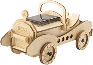 ARELUX 3D Wooden Puzzle Solar Energy Powered Car Model Kit Mechanical Craft Set Educational Toy Building Engineering Set B...