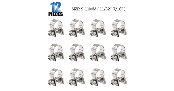 Petrol Pipe Clamps 80 x Assorted Mini Fuel Line Hose Clips /& Flexible Driver