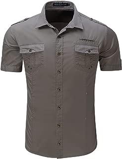 Men's 100% Cotton Short Sleeve Button Shirts