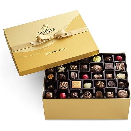 GODIVA Chocolatier Chocolate Gold Gift Box, Assorted 140 Count
