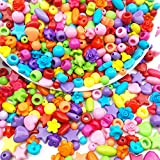Best Beads Mixes - 540pcs Large Hole Beads Rainbow Beads Plastic Beads Review