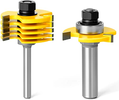 new arrival MEIGGTOOL high quality 1/2 Inch Shank Slot outlet sale Cutter Router Bit Set - 6 Size online sale