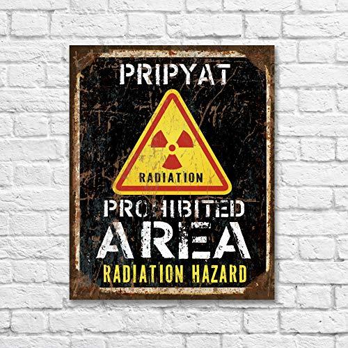 43LenaJon Chernobyl zone Pripyat Schild Gefahrenschild Strahlungsschild Kernkraftstation S.T.A.L.K.E.R Stalker Verbotener Bereich Radioaktives Schild Warni
